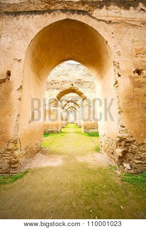 Old Moroccan Granary In The   And Archway