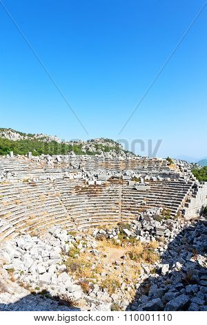 The Old  Temple  In Termessos   Sky And Ruins