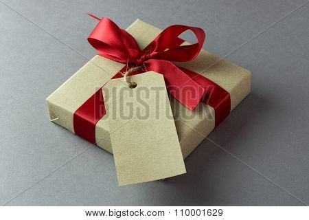 Gift Box With Empty Tag