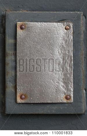 Silver Metal Plate