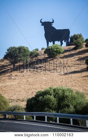 Bull-shaped Billboard In Spain