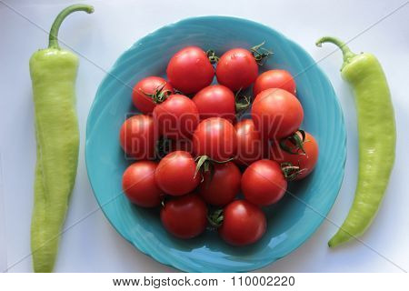 pepper and tomatoes