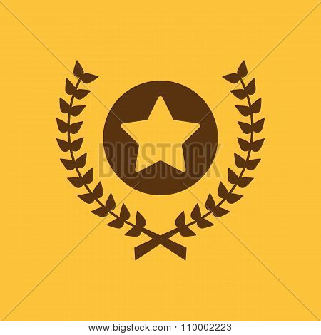Award icon. Priz symbol. Flat