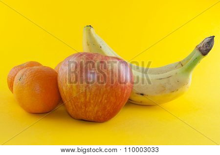 Banana, Apple And Tangerine