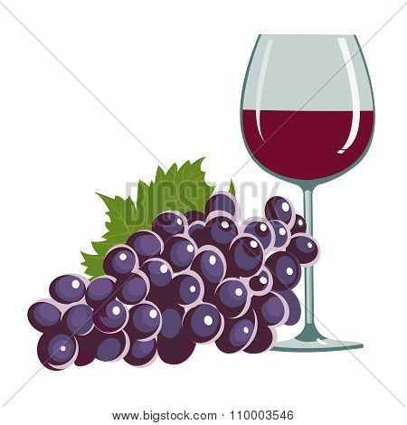 grapes and a wine glass