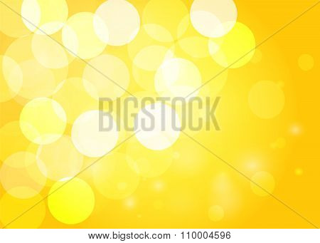 Yellow Bokeh Background. Vector Eps10.