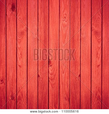 Red Wooden Rustic Background