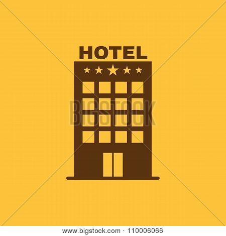 The Hotel icon. Travel symbol. Flat