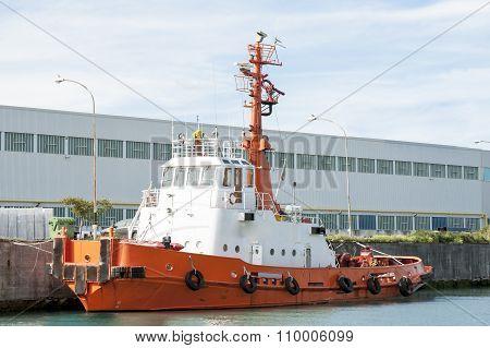Tug Boat Orange