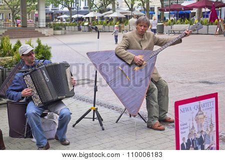 Playing the Balalaika