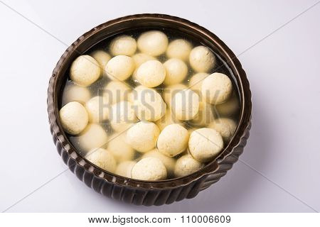 Indian sweet. Rasgulla is a syrupy dessert popular in the Indian subcontinent, and is made out of In