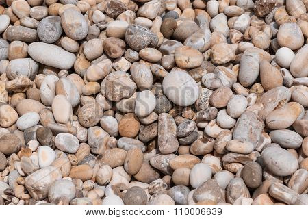 Detailed view of colourful beach stones