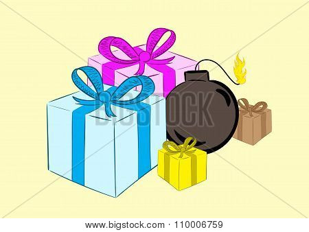Bomb in gifts