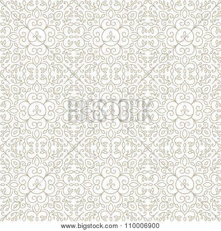 Vector line, lace, floral abstract seamless pattern