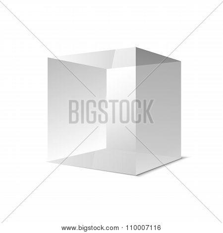 Four Transparent Gray Glass Cubes, Vector Eps10 Illustration