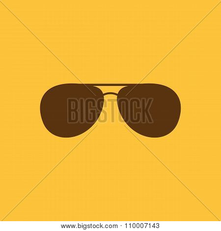 The sunglasses icon. Glasses symbol. Flat