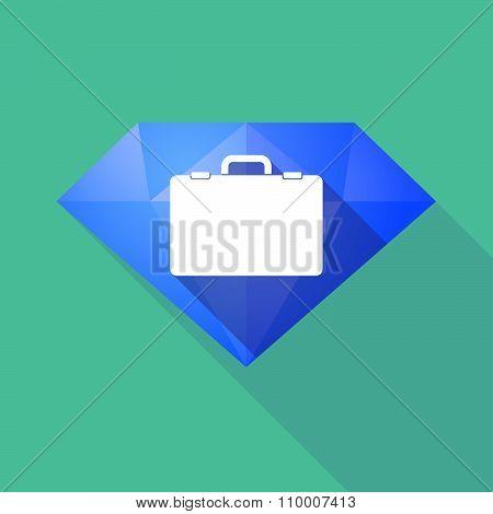 Long Shadow Diamond Icon With  A Breiefcase
