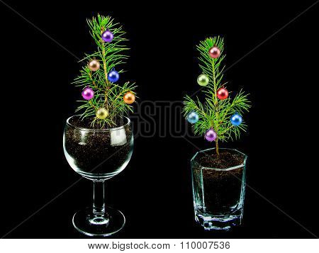 small elegant Christmas tree