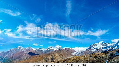 Alps Mountain Landscape In Switzerland