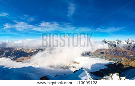 Alps Mountain Landscape In Switzerland