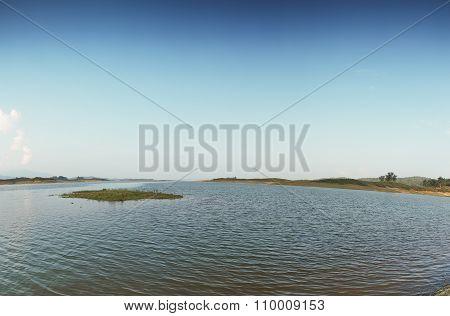 Panorama,  River And Sky