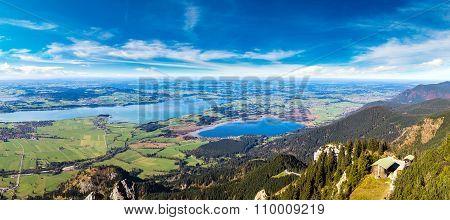 Green Fields In Bavaria  In Germany