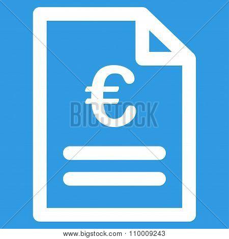 Euro Invoice Icon