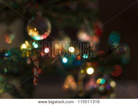 Christmas Background With Blur