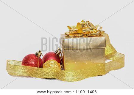 Christmas Gift  With Christmas Ball