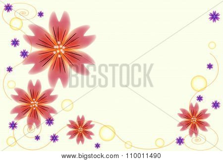 Abstract Floral Background With Spiral Patterns