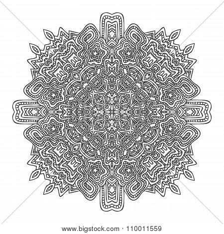 Monochrome Hand Drawn Decorative Element Illustration.