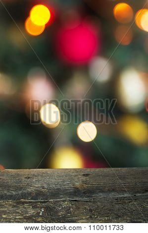 Christmas background with boards