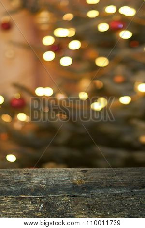 Christmas background with table
