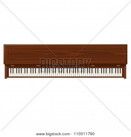 Vector Flat Style Piano Illustration Icon.