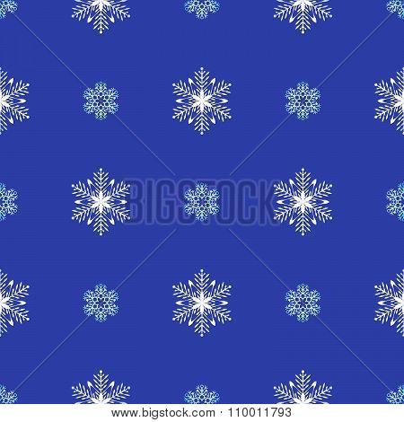 Flat Style Snowflakes Seamless Pattern.