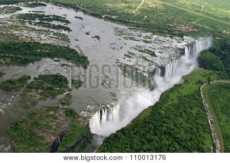 Victoria Falls in Zambia and Zimbabwe Africa