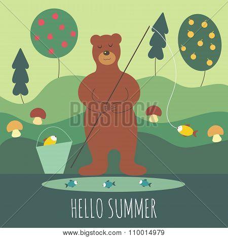 Bear in summer