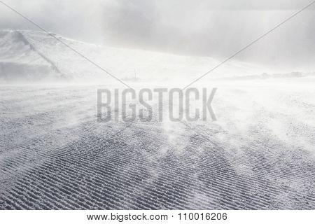 Empty Ski Slope