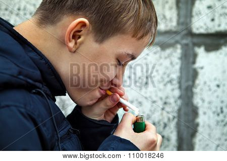 Kid With Cigarette