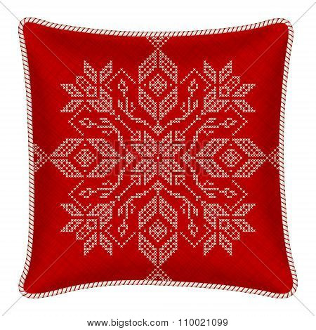 Christmas Embroidered Pillow