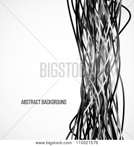 Absract black background with vertical lines