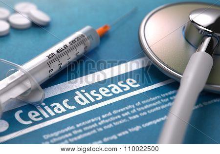 Diagnosis - Celiac disease. Medical Concept.