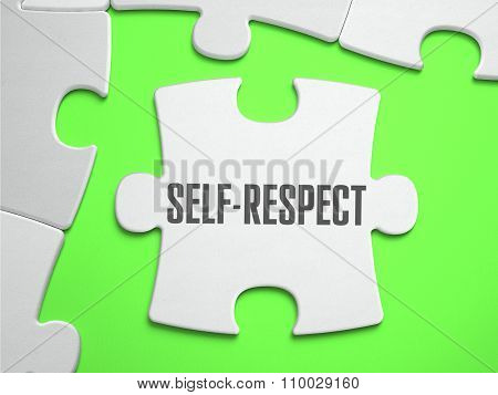 Self-Respect - Jigsaw Puzzle with Missing Pieces.