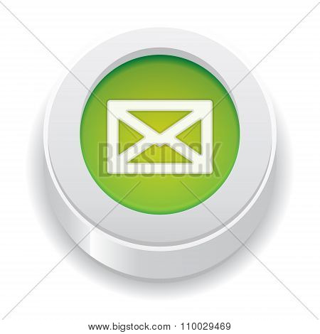 The Green Button With Envelope Icon