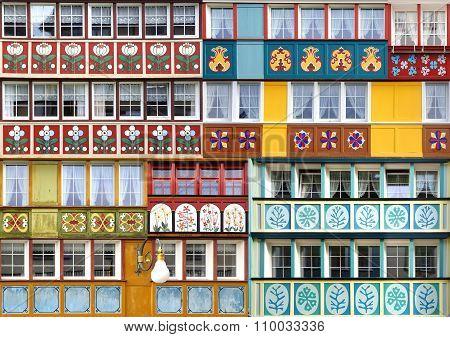 Collage Of The Ancient Unique Windows.