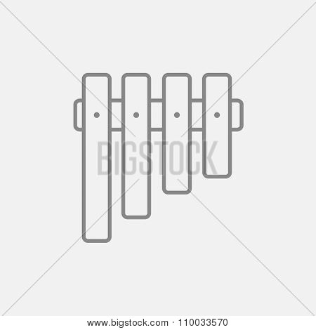 Vibraphone line icon for web, mobile and infographics. Vector dark grey icon isolated on light grey background.