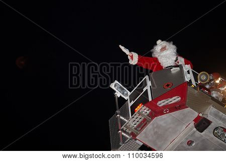 Santa In Downtown Lancaster