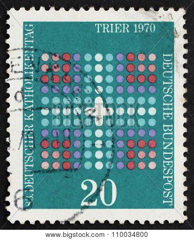 Postage Stamp Germany 1970 Cross