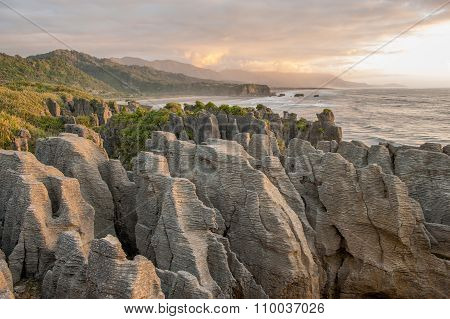 Pancake rocks, South Island, New Zealand