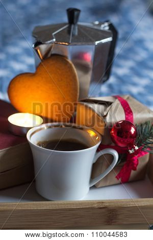 Gift with love and sweet coffee
